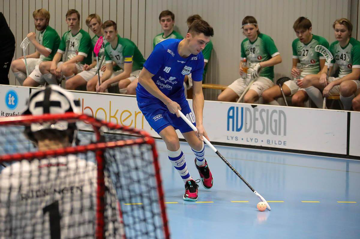 Toms Kirmuzs scoret to ganger for Harstad mot Gjelleråsen. Foto: Tor Anders Dalland