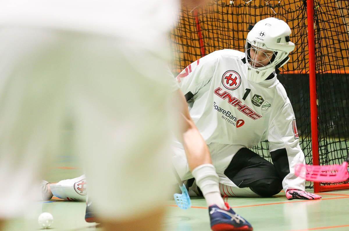 Philip Rudningen gjorde en god kamp for Gjelleråsen og ble kåret til sitt lags beste spiller. Foto: Kent Henriksen