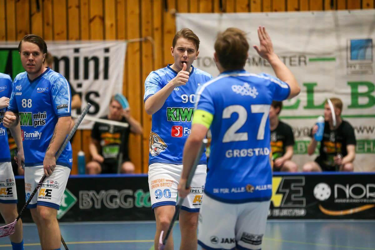 Jørgen Becher var tilbake på banen for Nor 92 og lå bak to poeng (1+1) mot Slevik. Foto: Kent Henriksen
