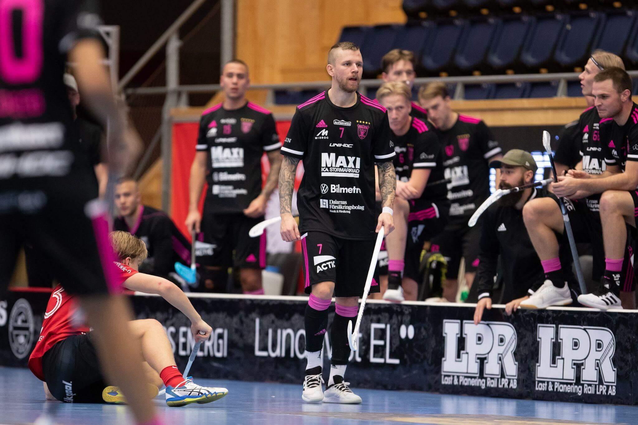 Rasmus Enström og Falun har slitt med smitte i troppen i sluttspillet. Foto: Peter Bohlin