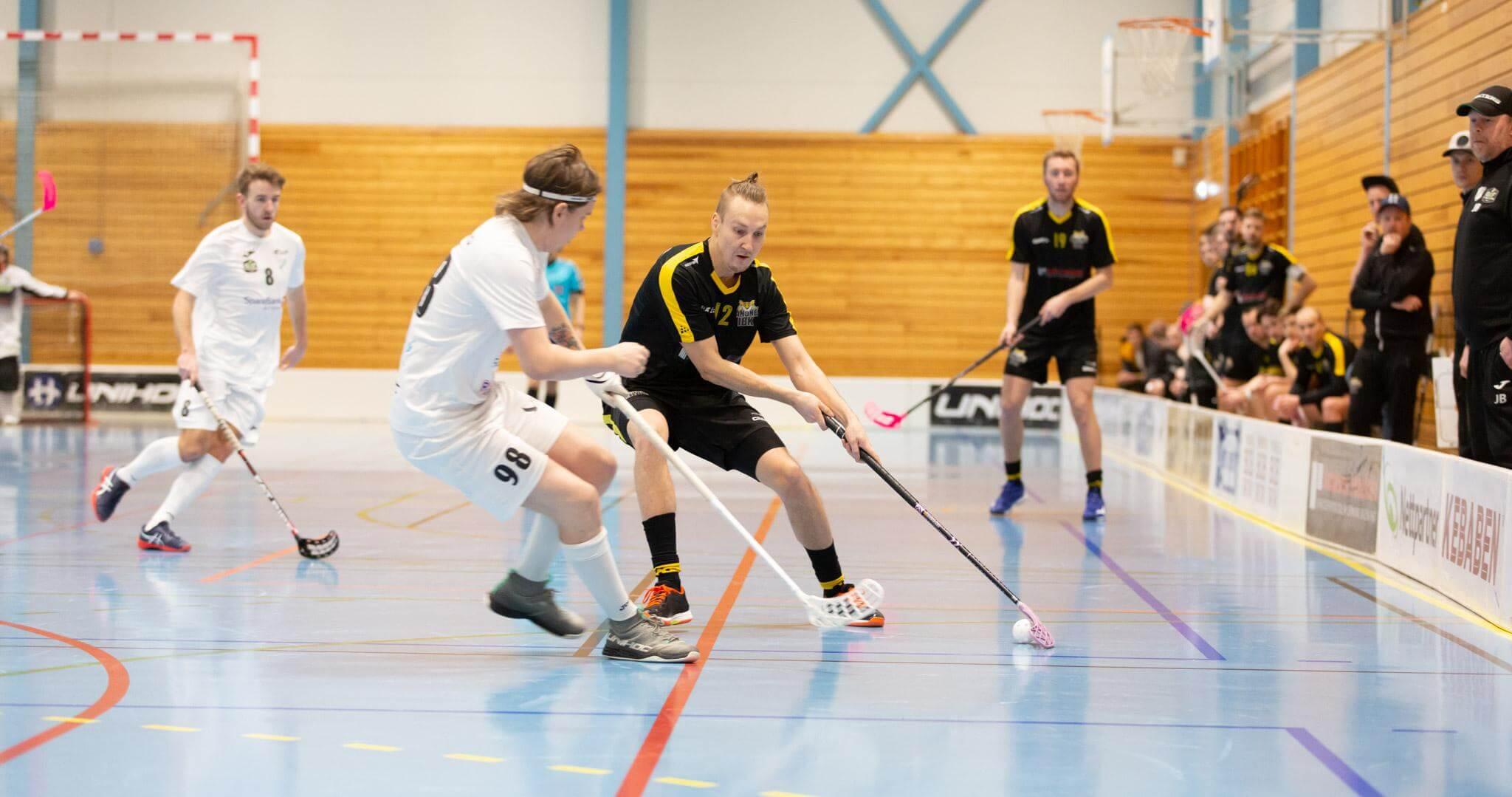 Det ble tre scoringer og en assist fra finske Tuomo Manninen mot Gjelleråsen. Foto: Børge Andreassen