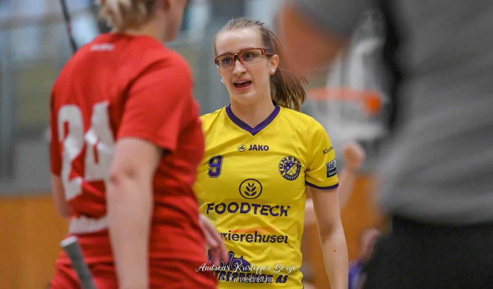 Emma Fagerhøi var kampens gigant med fem scoringer og to assist. Foto: Andreas Kristoffer Berge