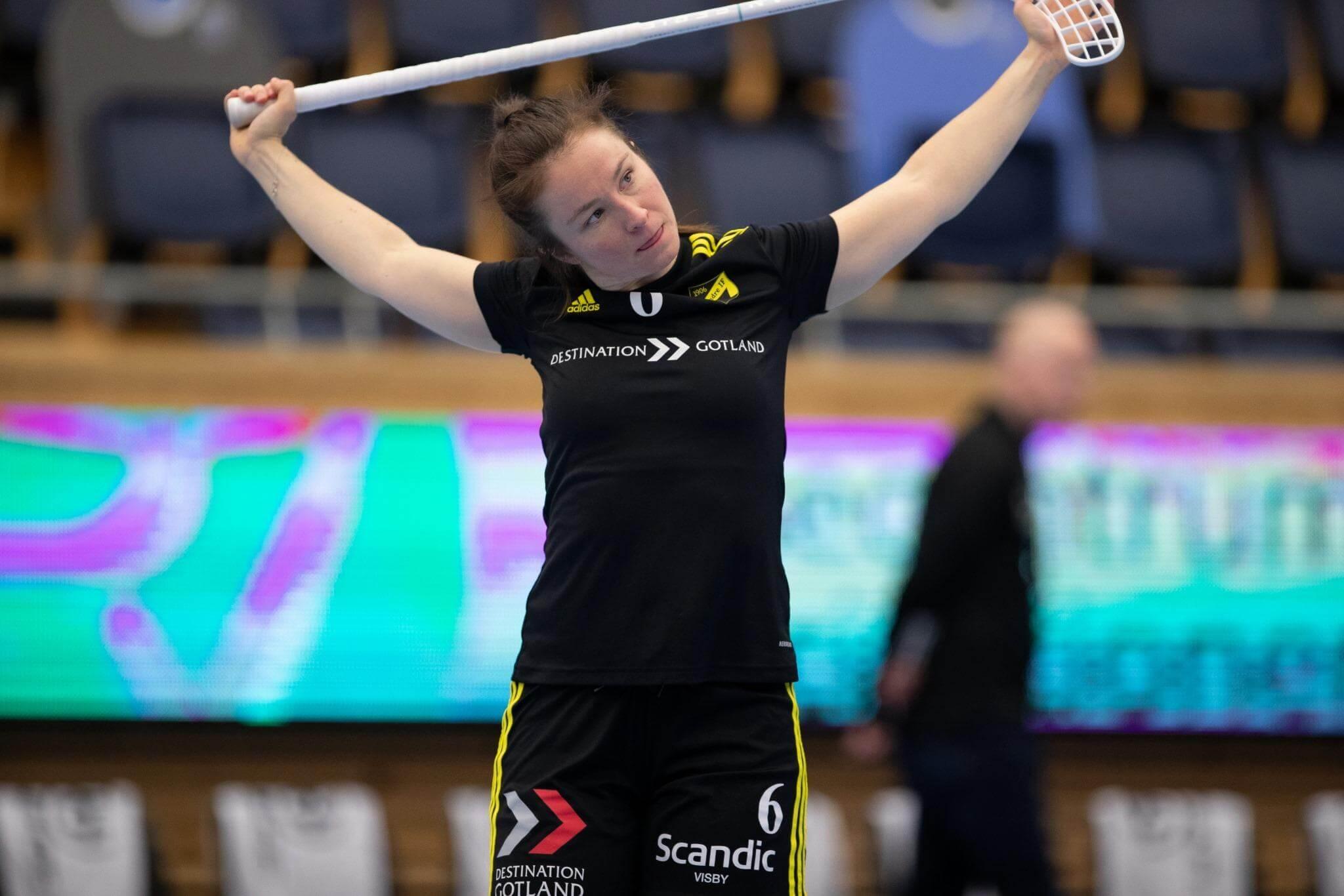 Karen Farnes scoret to ganger da Endre slo Karlstad søndag. Foto: Peter Bohlin