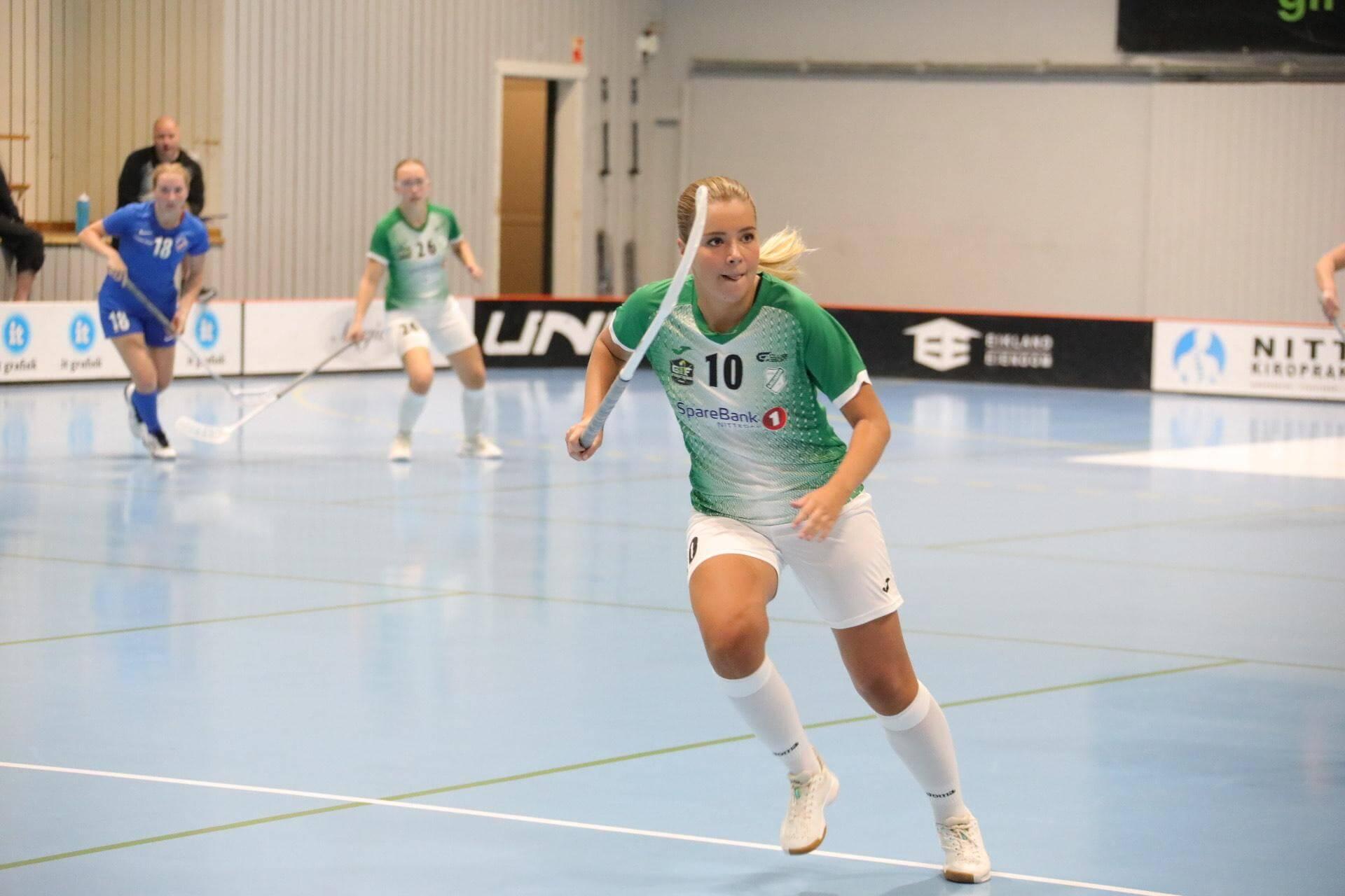 Moa Bernvid debuterte for Gjelleråsen og scoret mål i sin debut. Foto: Tor Anders Dalland