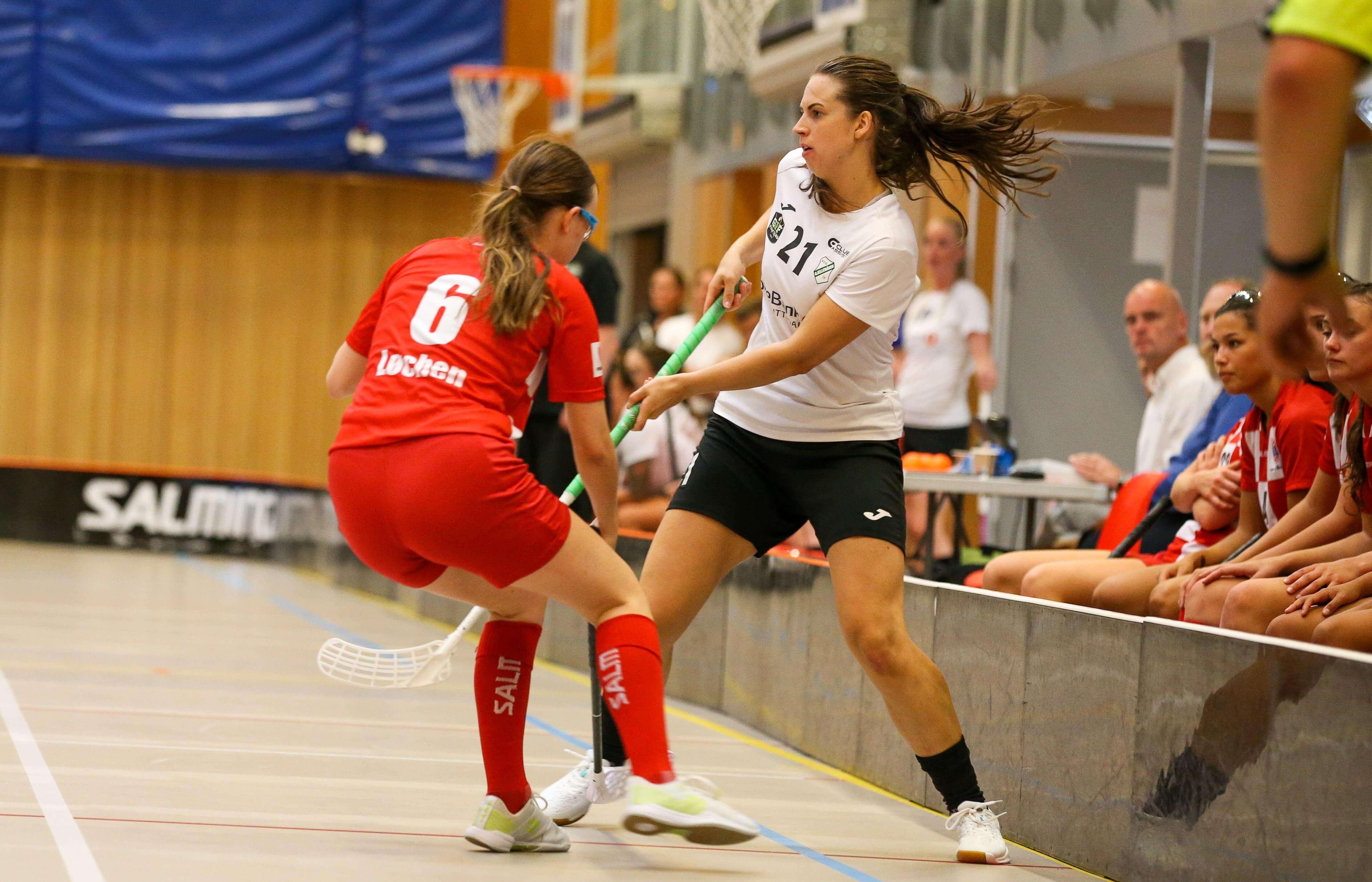 Det ble fire scoringer sist sesong for Ingvild Meyer Sørflaten, her i treningskamp mot erkerival Sveiva på forsesongen. Foto: Kent Henriksen