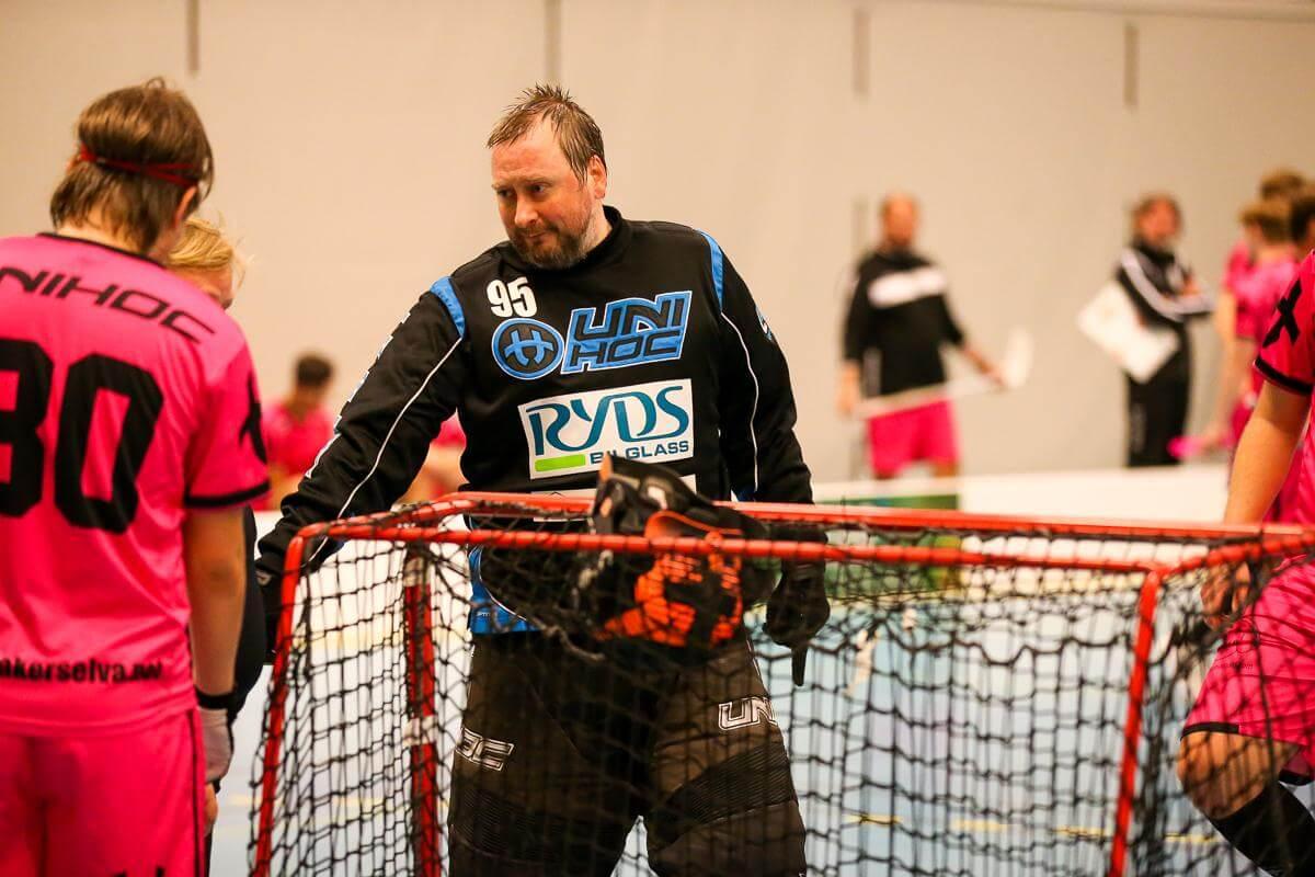 Einar Helgerud i aksjon mot Ull/Kisa i treningskamp på Jessheim sist fredag. Foto: Kent Henriksen